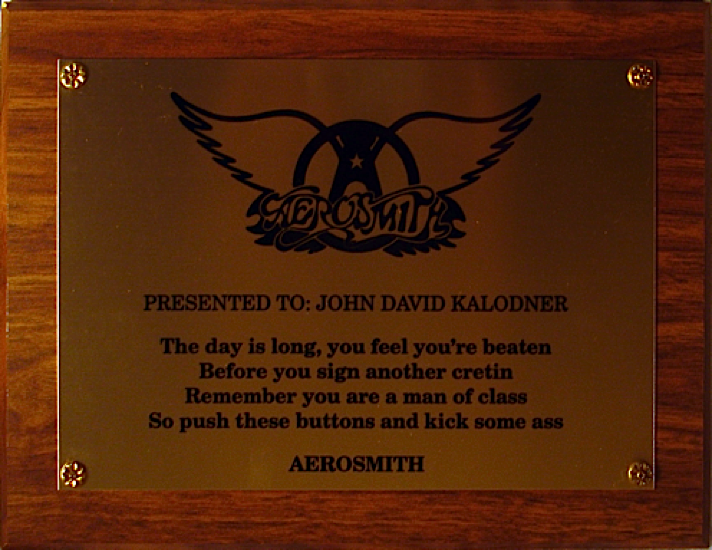 Aerosmith - 'Cretin' Award to JDK