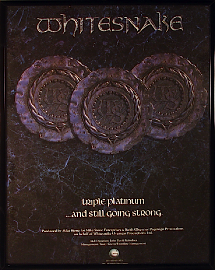 Whitesnake - Geffen Advertisement