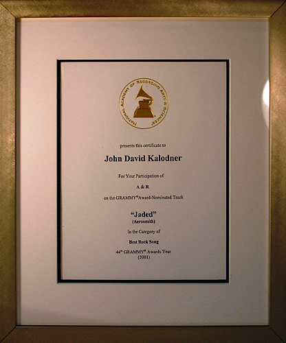 Grammy Nomination - Aerosmith 'Jaded'
