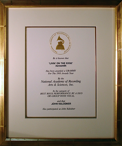Grammy Nomination - Aerosmith 'Livin On The Edge'