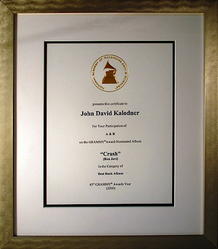 Grammy Nomination - Bon Jovi 'Crush'